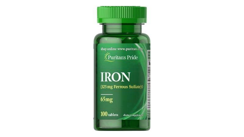 Viên uống Iron Ferrous Sulfate 65mg