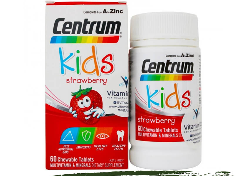 Kẹo ăn ngon bổ sung vitamin vị dâu Centrum Kids