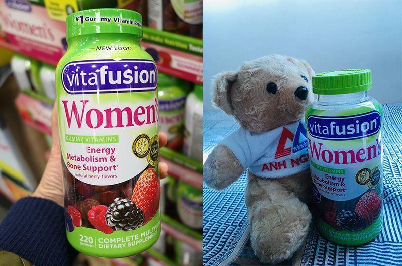 Vitafusion Women's Multivitamin nên để xa tầm với trẻ