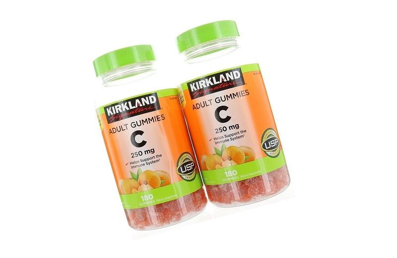 Kirkland Adult Gummies C 250mg - kẹo dẻo bổ sung Vitamin C cho người lớn