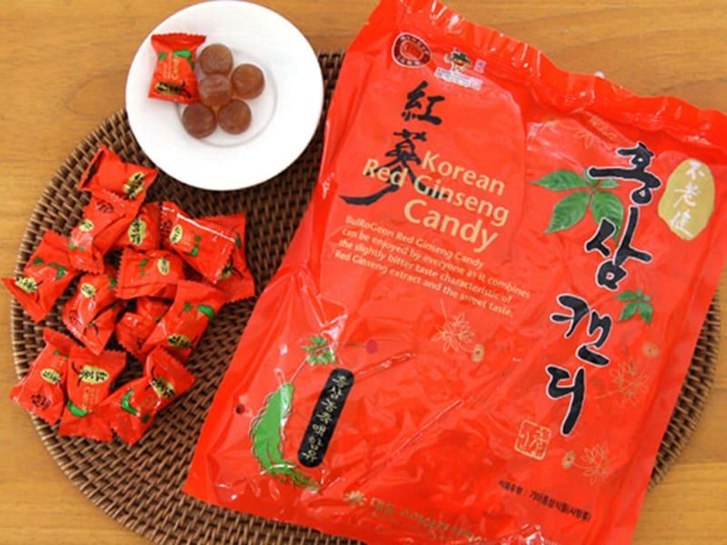 BulRoGeon Red Ginseng Candy là kẹo hồng sâm hàn Quốc với tinh chất từ bột hồng sâm 6 năm tuổi