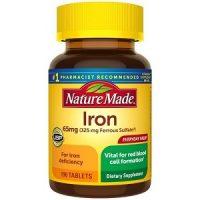 Viên uống Nature Made Iron 65mg bổ sung sắt
