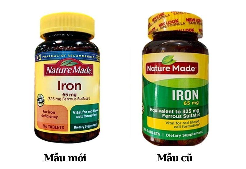 Viên uống Nature Made Iron 65mg bổ sung chất sắt cho cơ thể