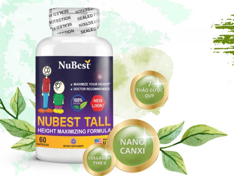 Viên uống NuBest Tall là sản phẩm được nhiều phụ huynh tin dùng
