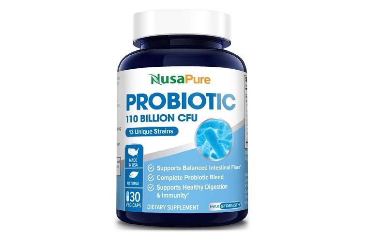NusaPure Probiotic 110 Billion CFU nằm trong top sản phẩm hỗ trợ tiêu hóa tốt nhất