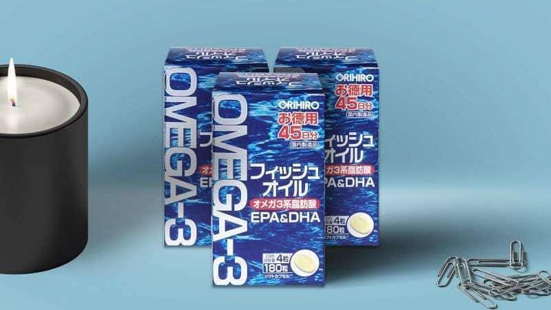 Viên uống hỗ trợ tim mạch và trí não từ Orihiro Omega-3 EPA/ DHA 180 viên