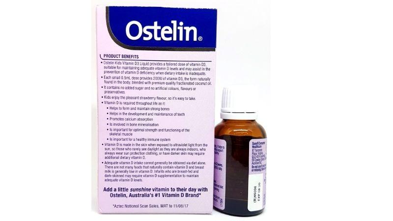 Thành phần của Ostelin vitamin D