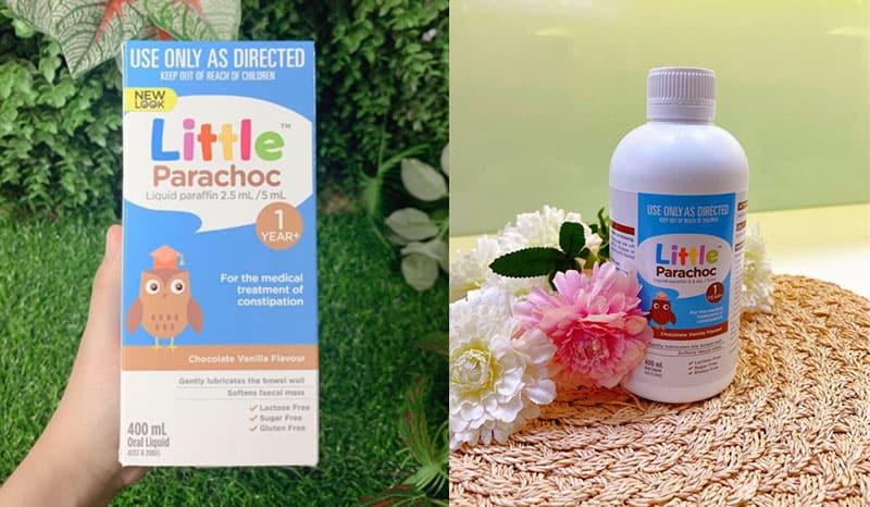 Siro Parachoc giúp hỗ trợ cải thiện tình trạng táo bón cho bé từ 1 - 12 tuổi