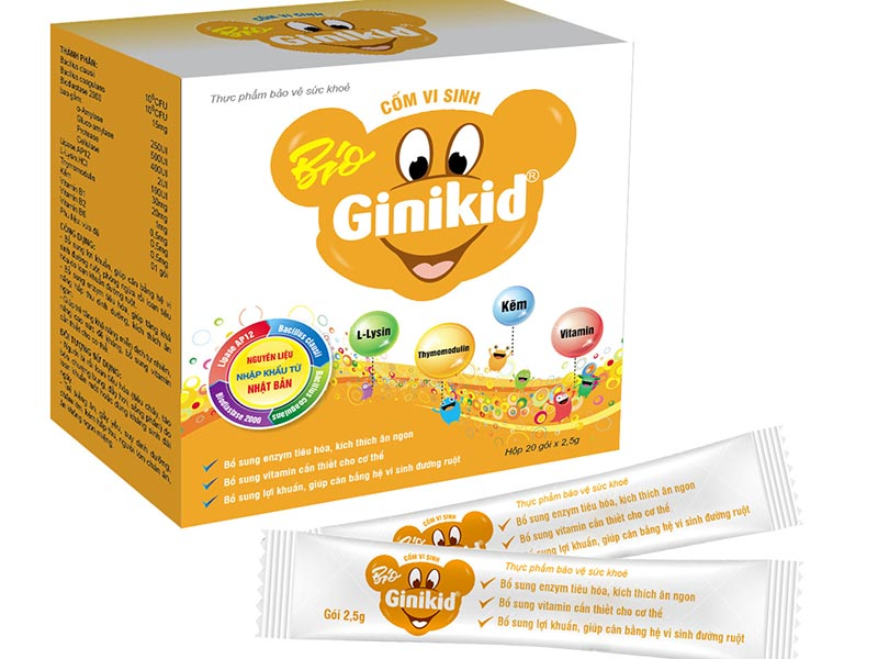 Ginikid được sản xuất bởi công ty TNHH Dược phẩm Mê Linh