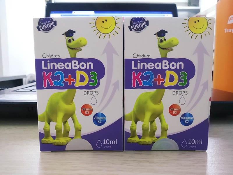 Lineabon K2+D3 là sản phẩm hỗ trợ hấp thụ canxi nhỏ giọt được nhập khẩu chính hãng từ châu Âu