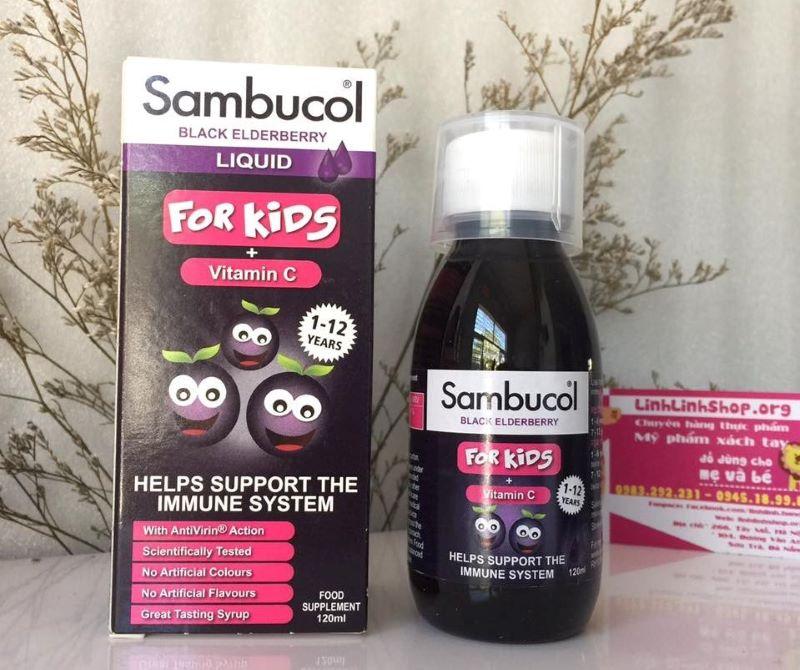 Siro tăng sức đề kháng cho bé Sambucol được chiết xuất chính từ quả cơm cháy