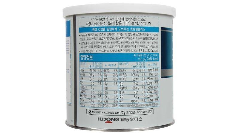Thành phần đa dạng các vitamin và khoáng chất