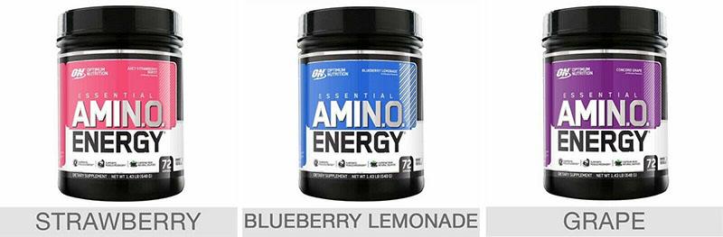 Sữa phục hồi năng lượng Optimum Nutrition Essential Amino Energy 648g có nhiều hương vị