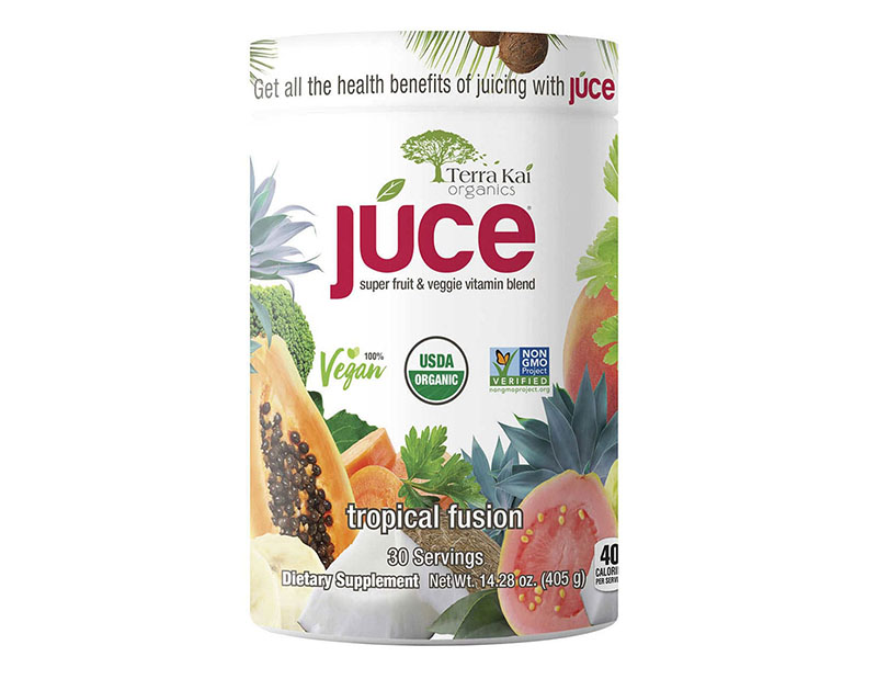Bột trái cây và rau củ quả Terra Kai Organics Juce Tropical Fusion 405g tốt cho sức khỏe