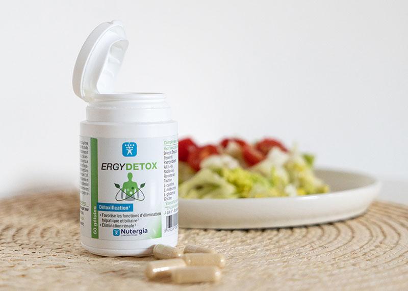 Ergydetox của thương hiệu Nutergia bổ sung các dưỡng chất để detox cơ thể