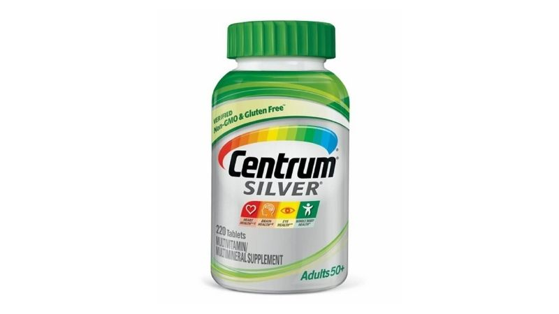 Centrum Silver Multivitamin for adults 50+ bổ sung canxi, tăng cường thị lực