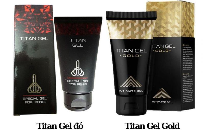 Sản phẩm Titan Gel ngoài thị trường hiện nay