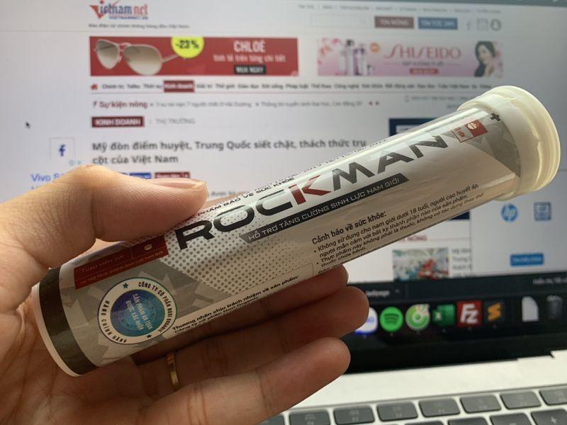Viên sủi Rockman có công dụng cải thiện các vấn đề về sinh lý
