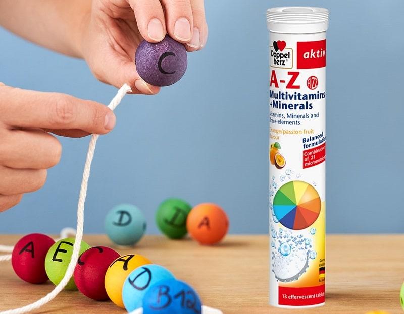 Viên sủi vitamin tổng hợp Aktiv A-Z Multivitamin