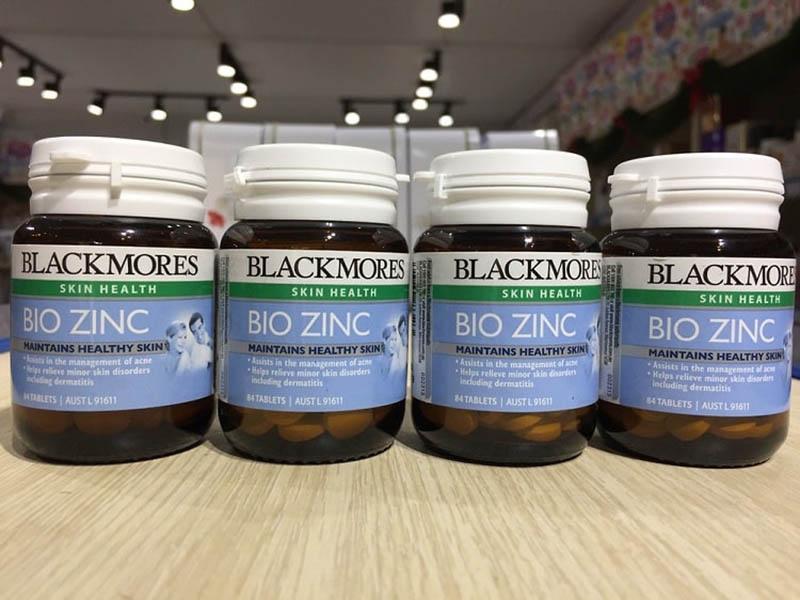 Viên uống bổ sung kẽm Blackmores Bio Zinc thường được các bác sĩ nước ngoài khuyên dùng