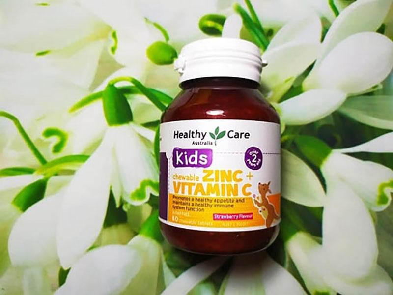 Viên uống bổ sung kẽm cho trẻ Healthy Care ZinC + Vitamin C