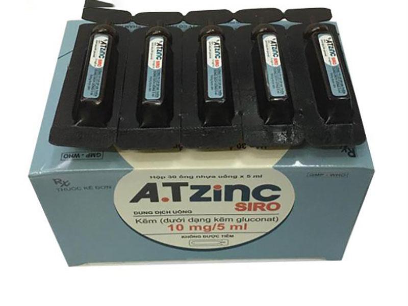 Atizinc siro dạng nước dùng được cả cho trẻ nhỏ và người lớn