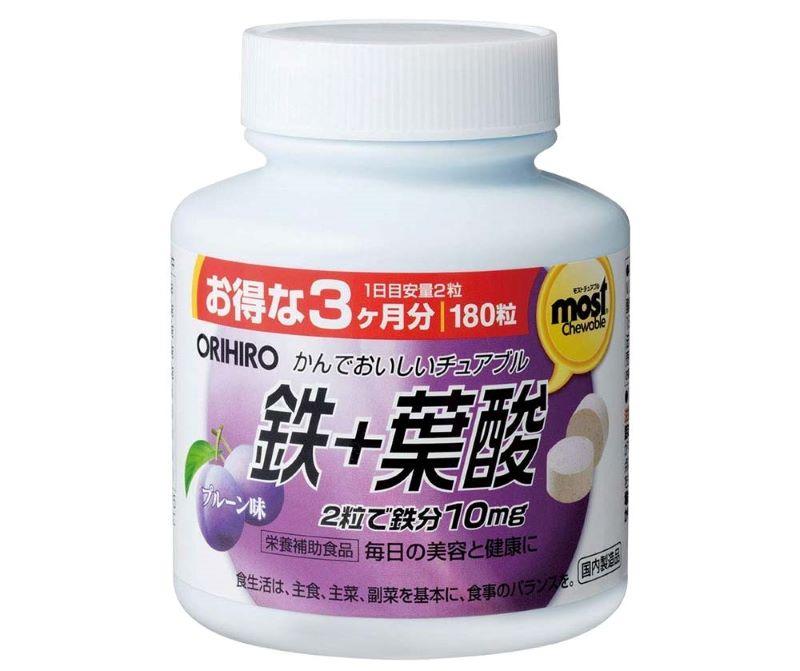 Acid Orihiro Most Chewable Iron giúp bổ máu cải thiện hoạt động của hệ thần kinh