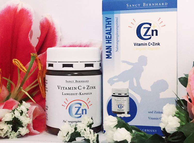 Vitamin C-Zink được đóng gói 60 viên