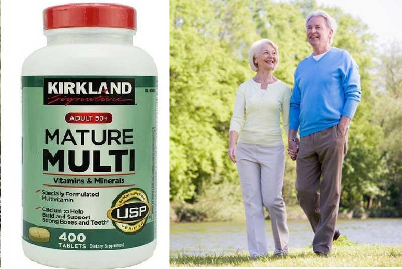 Viên uống Kirkland Mature Multi Mỹ được sử dụng cho đối tượng từ 50 tuổi trở lên