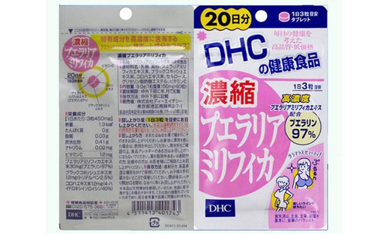 Bảng thành phần các chất có trong một liều dùng