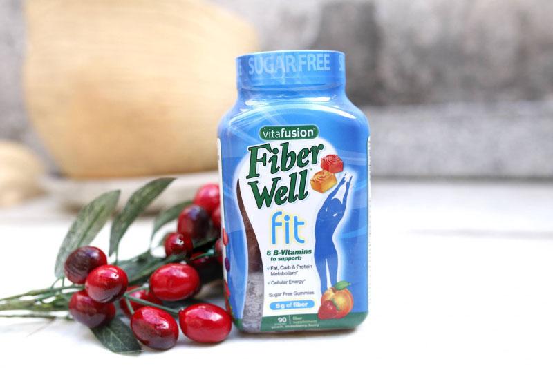 Vitafusion Fiber Well Fit được bào chế dạng kẹo thơm ngon