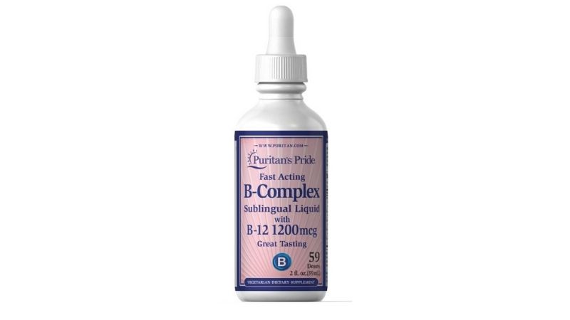 Vitamin B-Complex Sublingual Liquid with Vitamin B-12