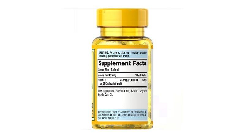 Thành phần có trong viên uống vitamin D3