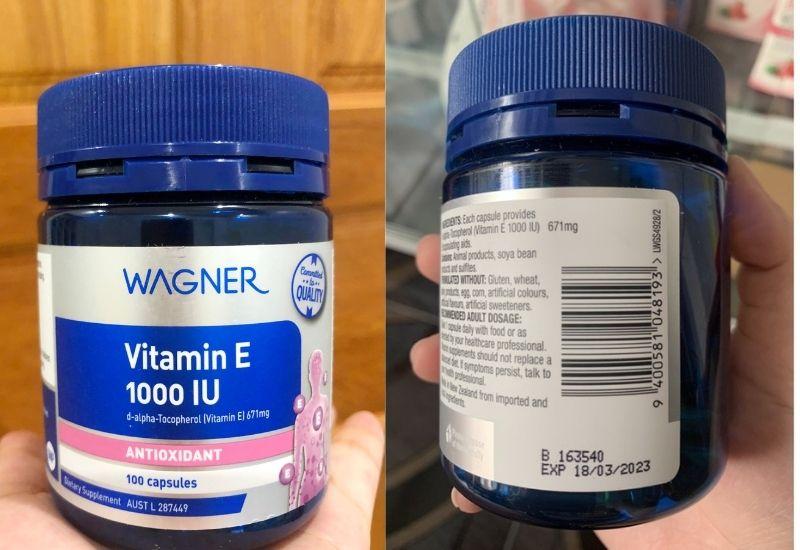Vitamin E 1000IU chăm sóc sức khỏe làn da