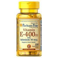 Viên uống bổ sung vitamin E giúp đẹp da, chống lão hóa, hỗ trợ tim mạch Puritan'S Pride