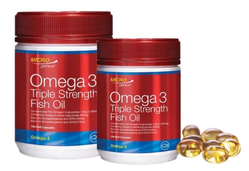 Viên uống dầu cá Microgenics Omega 3 Triple Strength Fish Oil 150 viên