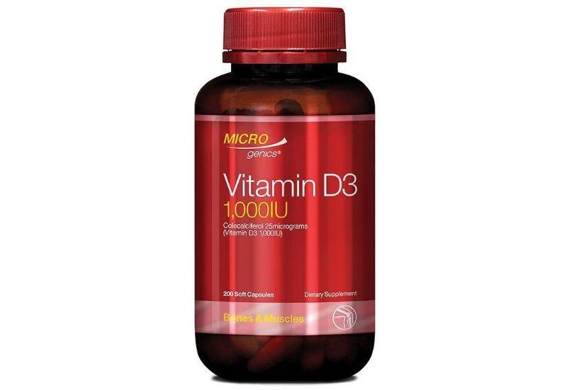 Viên uống bổ sung Microgenics Vitamin D3 1000IU