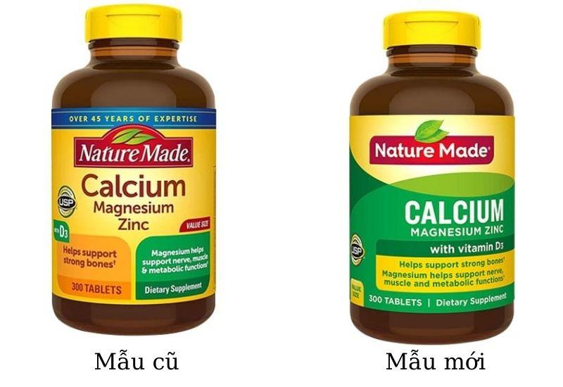 Viên uống Nature Made Calcium Magnesium Zinc D3 chính hãng của Mỹ