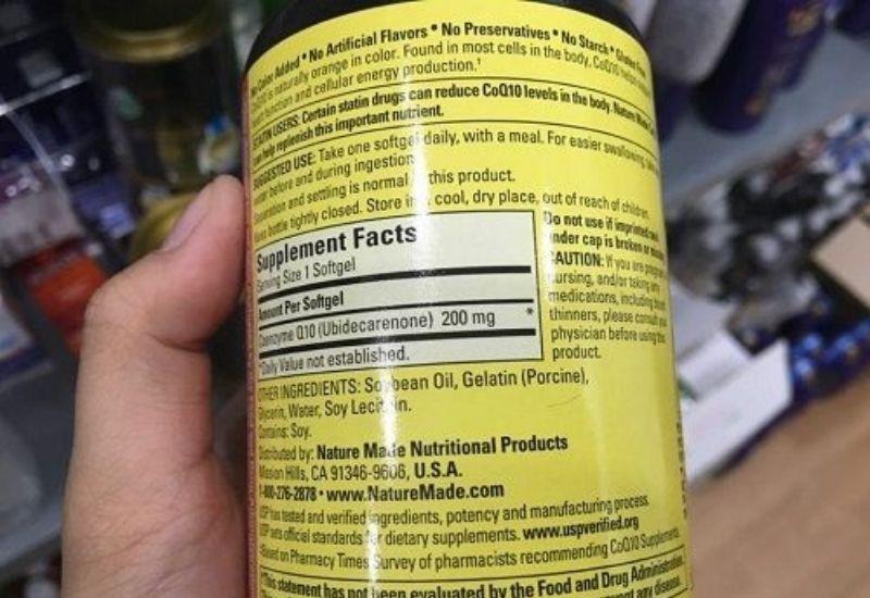 Coenzyme Q10 là thành phần quan trọng nhất trong sản phẩm