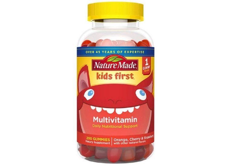 Nature Made kẹo dẻo Kids First Multivitamin Gummies bổ sung dinh dưỡng