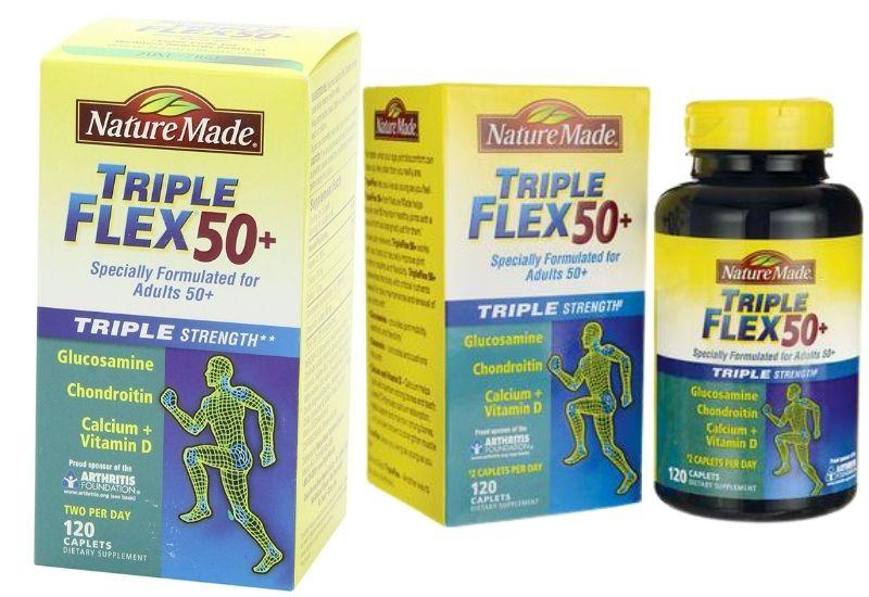 Nature Made Triple Flex 50+ giúp chắc khỏe xương cho người trên 50 tuổi