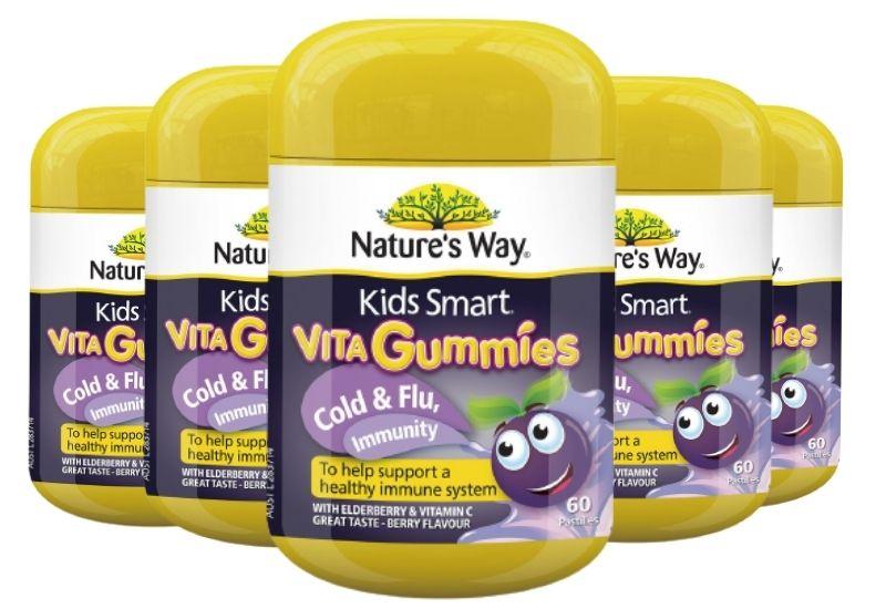 Nature's Way Kids Smart Vita Gummies Immune Defence bổ sung vitamin