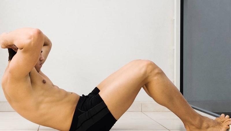 Gập cơ bụng - bài tập chữa yếu sinh lý