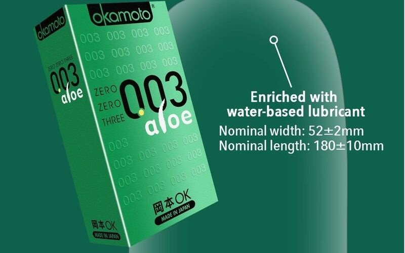 Sản phẩm Okamoto 003 Aloe có chứa thành phần lô hội