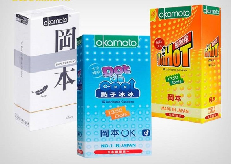 Các dòng bao cao su Okamoto là sự lựa chọn tốt cho nhiều nam giới