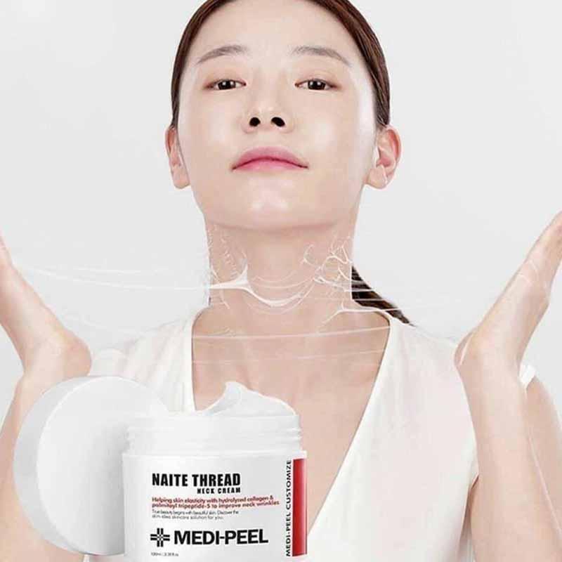 Kem chống lão hóa da cổ Medipeel Naite Thread Neck Cream