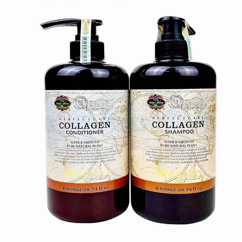 Cặp dầu gội xả phục hồi cho tóc nhuộm Collagen Mefaso