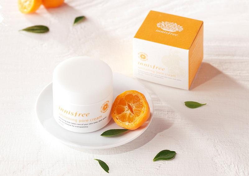 Innisfree Whitening Pore Cream - kem dưỡng trắng da mặt của Hàn Quốc