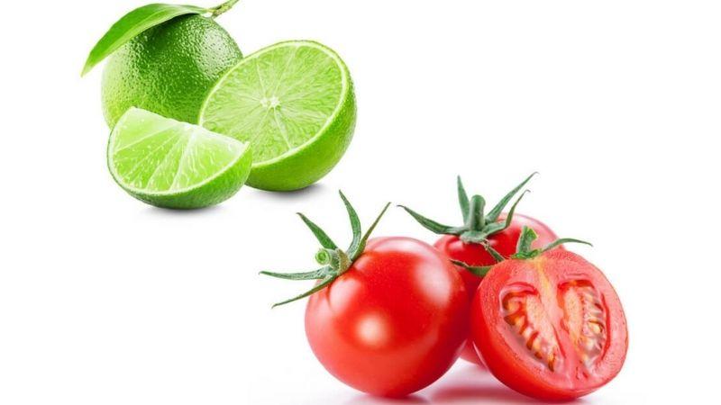 Kết hợp cà chua cùng chanh