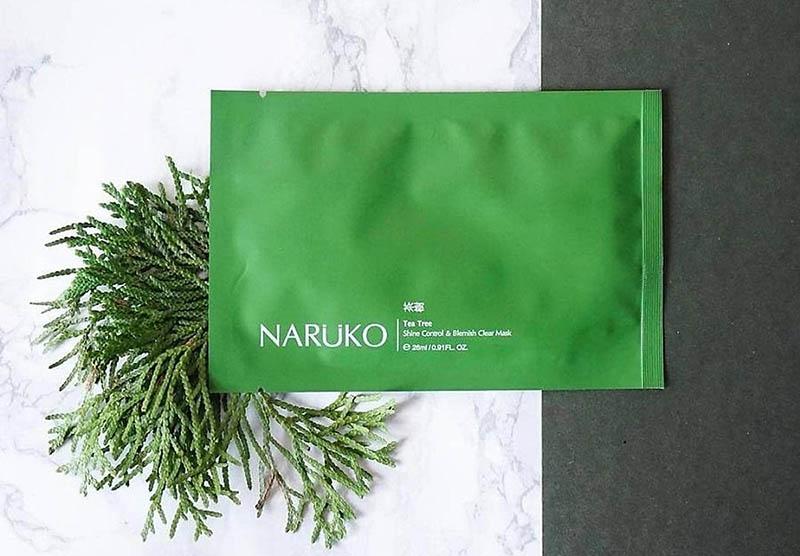 Mặt nạ thải độc cho da dầu mụn Naruko tràm trà